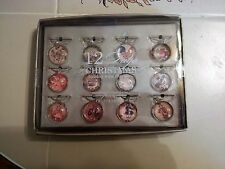 POTTERY BARN 12 Days of Christmas Wine Charms Never Used