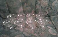 Set of 8 Glass Ice Cream Sundae/ Dessert  Dish Bowls 3 Oz. Size