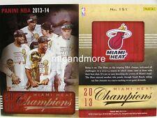 Panini NBA (Adrenalyn XL) 2013/2014 - #151 Miami Heat Champions 2013