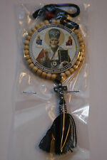 russian orthodox  saint nicholas +pocket prtotection icon driving protection