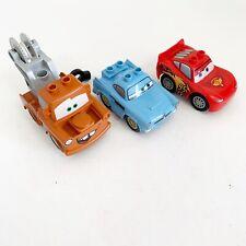 Lego Duplo Disney Cars Lot Lightning McQueen Mater Tow Truck Hornet Flo's Cafe