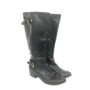 Corso Como Size 10 EC Black Leather Knee High Riding Boots Equestrian Style