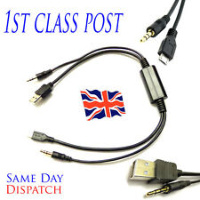 Bmw & Mini Interface Audio USB Y Cable Charging AUX Lead For Samsung HTC NOKIA