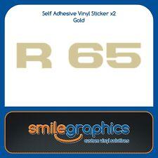 BMW R65 Monolever Tapa de la Batería Panel Lateral Adhesivos Oro