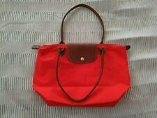 Longchamp Le Pliage top handles nylon bag in red medium