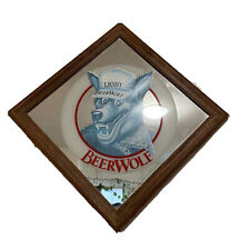 Coors Lite Beerwolf Mirror Framed Beer Wolf Mancave