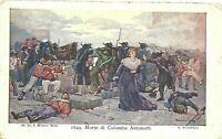 CARTOLINA MORTE DI COLOMBA ANTONETTI 1913 BC19