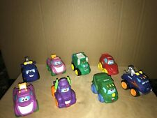 Lot of 8 Tonka  LARGE Soft Plastic TrucKS &, Cars IN VERY GOOD COND SMOKE FREE