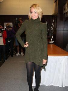 CELINE Cable Knit Polo Neck Mini Dress Tunic