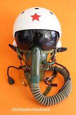Flight Helmet  Mig-29 Fighter Pilot  Helmet NEW  Oxygen Mask YM 6505