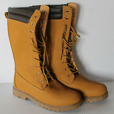 Womens Size Medium 7/8 RUE 21 ECT Yellow Brown Tall Workboots