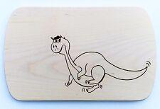 Frühstücksbrettchen Frühstücksbrett Gravur Dino Dinosaurier Vesper Holz Namen