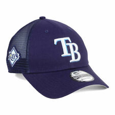 Tampa Bay Rays MLB Team Trucker Patch 9FORTY Snapback Cap Hat Mesh Back Men's TB