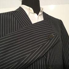 Ermenegildo Zegna Z Mens Sport Coat Blazer Jacket 44R Black White Stripes 0303