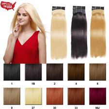 Yaki 100% Virgin Human Hair Weave Weft Hair Extension Straight Style Multi color