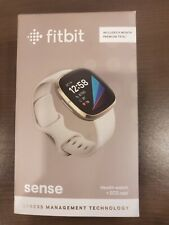 New Fitbit Sense Fitness Health Watch + ECG App Gold case/white band. Sealed box