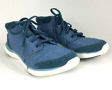 Teva Wander Legion Blue Women's 6.5 Canvas Suede Lace Up Sneakers