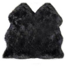 Lambland Luxury Extra Large Super Soft UK Made Black Genuine Sheepskin Rug