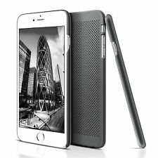 Ultra Thin Black Mesh Rubber Hard Plastic Back Case Cover For iPhone 6S iPhone 6
