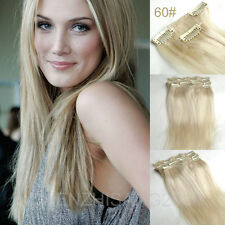 """7Pcs/Set Clips In on Remy Real 100% Human Hair Extension 14""""-30"""" 15colors"""