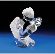Expectant Moment Sensual Statue Romantic Lovers Crystalline Sculpture