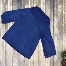 Kim Rogers Woman's 1XL Blue Acrylic Cowl Neck Long Sleeve Sweater Tunic Top #400