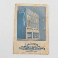 Vintage Appalachian Life Insurance Needle Book Needles Advertising Card