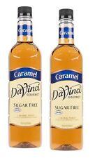 DaVinci Gourmet Sugar Free Caramel Beverage Syrup 750 ml kosher Pack of 2