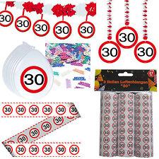 41 tlg. Set Partyset zum 30sten 30. Geburtstag Dekopaket Dekoration Partyzubehör