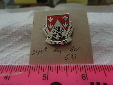249th Engineer Battalion G23 Unit Crest, DI, DUI (DRAW#W13)