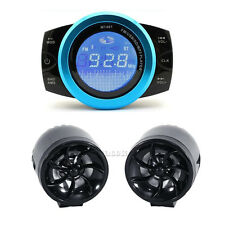 2x LED speakers Anti-theft motorcycle Audio Radio System Stereo USB MP3 Player