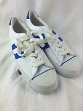 Pro Keds Tennis Shoes Mens 8 Womens 9 1/2 Leather White Blue Sneaker Athletic E5