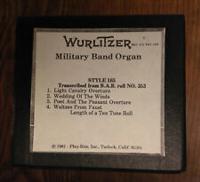 Wurlitzer Military Band Organ Roll, Style 165, from Bab roll @353.