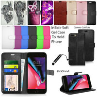 For Apple IPhone 6 7 8 Plus X Phone Case Wallet Leather Cover Flip Book + Stylus