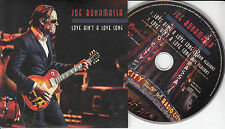 JOE BONAMASSA Love Ain't A Love Song 2015 Euro 2-trk promo CD