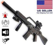 TOY Fun Machine Gun Military Battery Electric Flash Sound Vibration Light Kid 3+