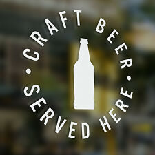 x1 Craft Beer Served Here, Sticker, Pub, Coffee Shop , Bar, Cafe, Restaurant,