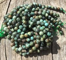 "8mm Natural African Turquoise Round Beads 15"" Strand Oz Seller"