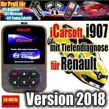 *TOP iCarsoft i907 Renault OBD Diagnosegerät Clio Laguna Megane Scenic Espace*