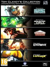 TOM CLANCY'S COLLECTION.  5 COMPLETE GAMES. BRAND NEW. SHIPS FAST AND SHIPS FREE