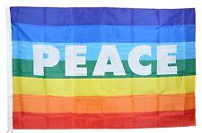 BANDIERA DELLA PACE FLAG PEACE NO WAR MOVIMENTO PACIFISTA ARCOBALENO cm 90x150