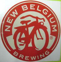 NEW BELGIUM BREWING Beer STICKER Label w/ White behind BIKE Ft Collins, COLORADO