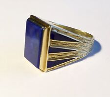 Antique Vintage Estate 14k Lapis Enamel Ring