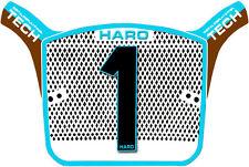 Haro AERO Tech OS Race Bmx NUMERO TARGA REPLICA Vecchia Scuola Cool Blu Marrone se