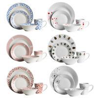 16 Piece Dinner Set Porcelain Dinnerware Tableware Place Settings Plate Bowl Mug