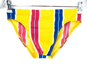 ZETA ZUKKI Yellow Swimwear Swimming Triangular Brief Trunks Size IT 48 EU M