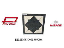 Rosone decoro Mirage ceramica mosaico su rete prima scelta levigato 30x30 B119