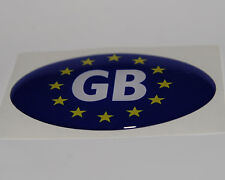 GB Europe Flag Resin Dome Car Badge Oval Sticker