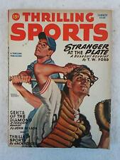 Vintage THRILLING SPORTS Magazine Summer 1946 Vol. 19, No. 1 EARLE BERGEY Cover