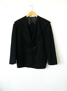 Y's Yohji Yamamoto ancienne ample adorable veste noire à grand col affaissé